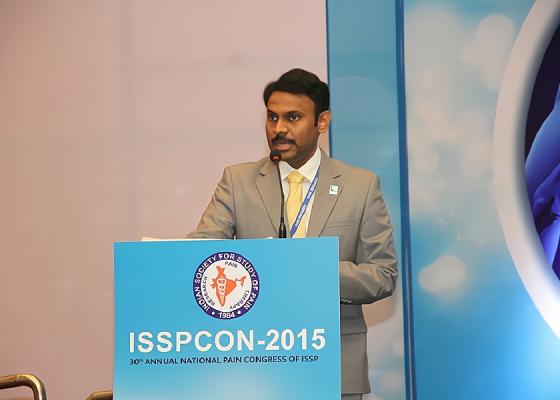 Dr Karthic Babu Natarajan giving Speach